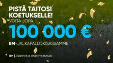 NAUTI VUODEN 2021 EM-KISOISTA JA VOITA EURO FREE2PLAY -PELISTÄMME JOPA 100 000 EUROA